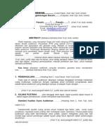 Format Penulisan Makalah Paper SENANTI 2014