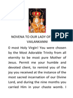 Novena Prayer to Our Lady of Vailankanni
