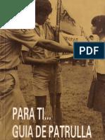 Para ti, guia de patrulla (libro para scouts)