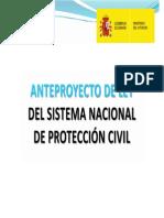 Anteproyecto Ley Proteccion Civil - Consejo Ministros, 28 agosto 2014