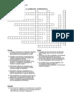 Crucigramas Definiciones La Poblacion
