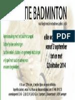 2014 Initiatielessen Badmintonclub DZ99