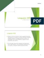 Lenguajes WEB