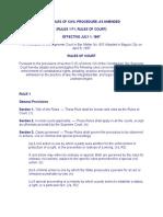 Civil Procedure 1