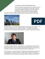 Global Solar Fund Fotovoltaico Restiamo fermamente convinti di questa tecnologia