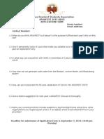 ARSAFEST 2015 Head Application Form