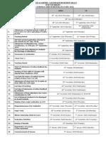 Academic Calendar Year Jul-Dec 2014