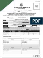 Registration Envelop punab university its free on scribd.com