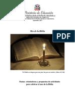 Actividades Mes de La Biblia