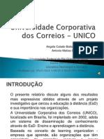 APRESENTAÇÃO - Universidade Corporativa Dos Correios - UNICO (1)