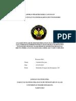 ANALISIS PENGARUH SEKTOR PERTANIAN DAN SEKTOR JASA-JASA TERHADAP PEREKONOMIAN MASYARAKAT KABUPATEN WONOSOBO DITINJAU DARI PRODUK DOMESTIK REGIONAL BRUTO (PDRB) ATAS DASAR HARGA BERLAKU TAHUN 2009-2012