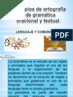 Principios de Ortografía y de Gramática Oracional y