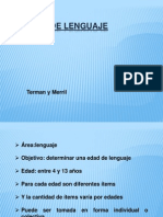 Test Prueba de Lenguaje Terman y Merril