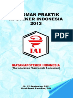 Pedoman Praktik Apoteker Indonesia 2013