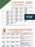 Tazewell September 2014 Group Exercise