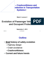Evolution of Passenger Vehicle Safety
