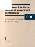 Evaluation of Joint Motion by Dortha Esch