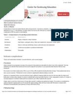 Complications of Acute Myocardial Infarction