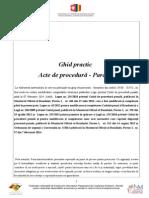 Ghid Practic. Modele de Acte de Procedură În Materie Penală - Parchete