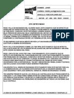 Informe de Diagnostico Ford Explorer 2007...