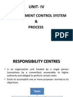 Unit- IV Management Control Systems and Proecess