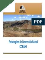 Corani - Desarrollo Social