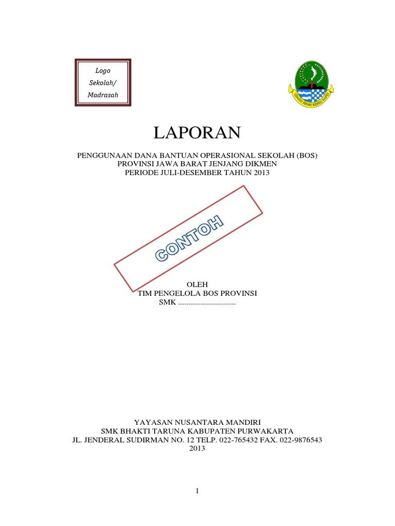 Contoh Laporan Bos 2013