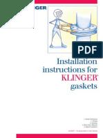 Installation Storage Instructions Klinger Gaskets