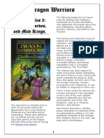 Dragon Warriors House Rules 3