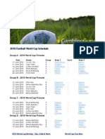 2010 World Cup Schedule
