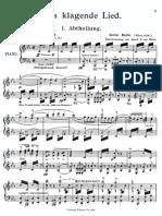 Mahler - Das Klagende Lied VOCAL SCORE