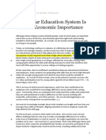 Fixing Our Education System Is Of Vital Economic Importance