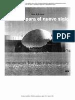 Museos Para El Nuevo Siglo Josep María Montaner