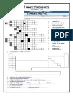 Evaluación II Bimestre QUIMICA 3TO