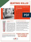 ASPCA Pets in Hot Cars poster