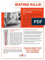 ASPCA Pets in Hot Cars poster