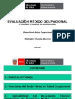 Evaluación Medico Ocupacional