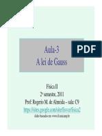 Fisica II- Aula 3 - Lei de Gauss