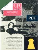 WALLERSTEIN.abrir Las Ciencias Sociales