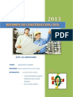 Regimen de Construccion Civil. PARA IMPRIMIR