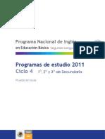 Programa Nacional Ingles en Secundaria SEP Mexico
