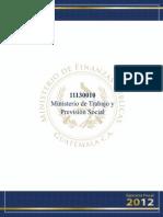 11130010 Ministerio de Trabajo y Prevision Social