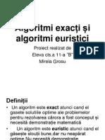 Algoritmi Exacți Și Algoritmi Euristici