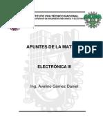 Apuntes Electrónica III - Ing.daniel Avelino Gómez