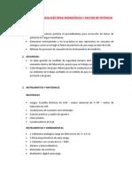 Práctica de Potencia Eléctrica Monofásica y Factor de Potencia