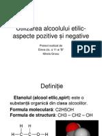 Utilizarea alcoolului etilic-