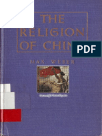 Max Weber, Hans H. Gerth the Religion of China 1968