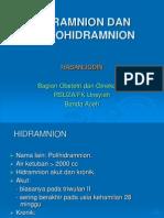 Hidramnion Dan Oligohidramnion