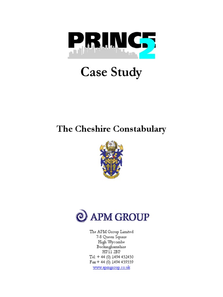 prince2 case study the cheshire constabulary