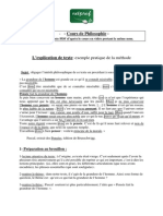Philosophie Explication de Texte Exemple Pratique de La Methode